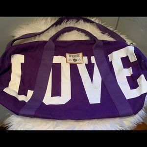 VIctoria's Secret Love PINK duffle purple